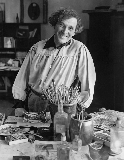 Andre Kertesz, Marc Chagall in His Studio, Paris, 1933