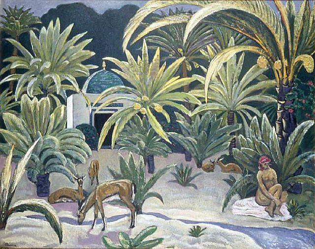 Andre Sureda, Femme nue dans l'oasis, Djerba, 1925