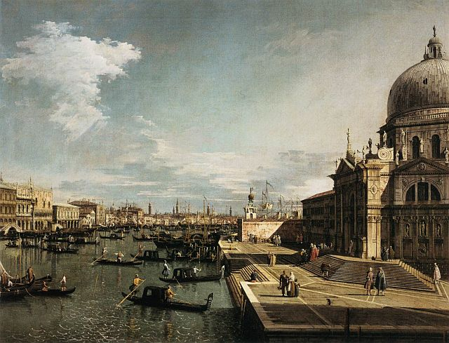 Canaletto, Entrance to the Grand Canal, 1744