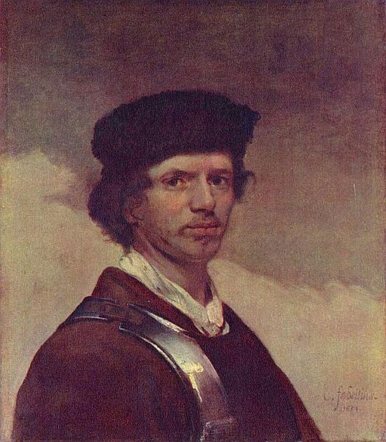 Carel Fabritius, Young Man in a Fur Cap, self-portrait,1654