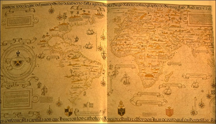 Diego Ribero world map,1529