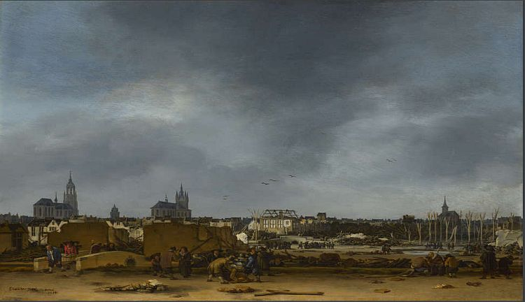 Egbert van der Poel, View of Delft after the Explosion of 1654
