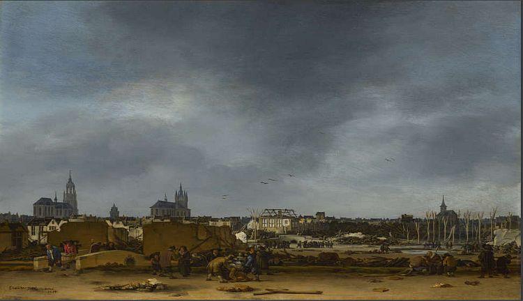 Egbert van der Poel, View of Delft after the Explosion of 1654