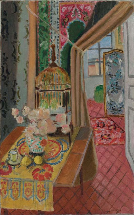 Interior, Flowers and Parakeets, 1924