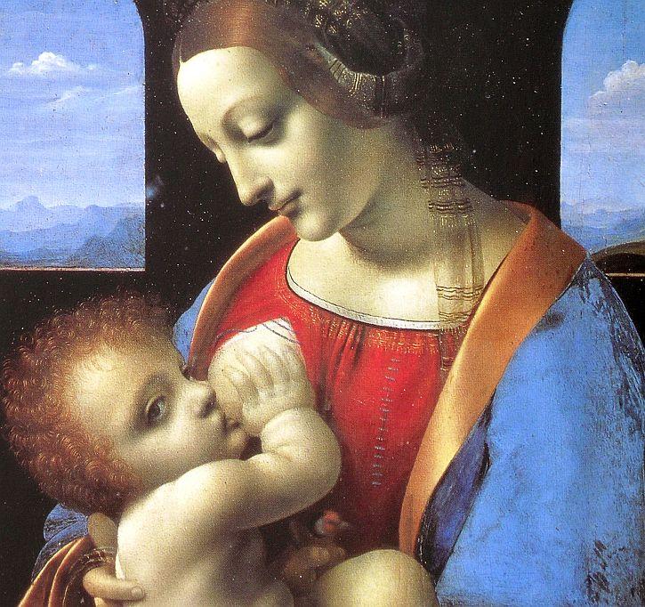 Leonardo, Madonna Litta detail