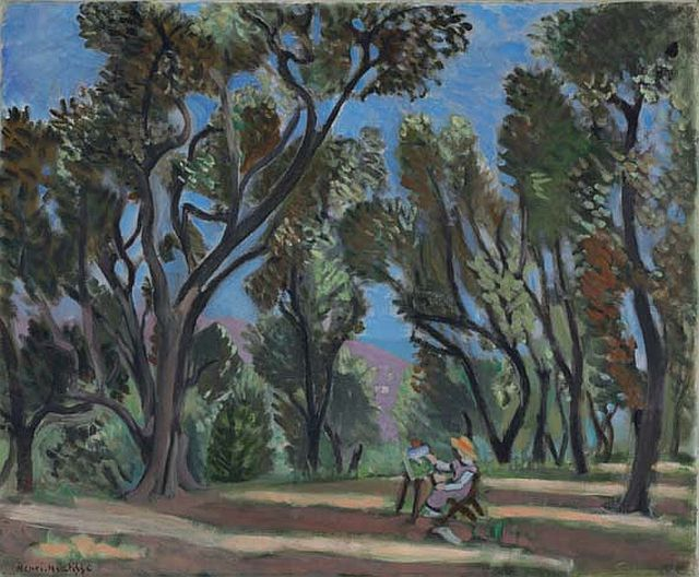 Painter in the Olive Grove, 1922