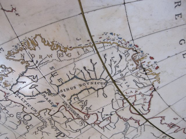Part of Blaeu's map on the marble floor of the great hall of the Royal Palace, Amsterdam