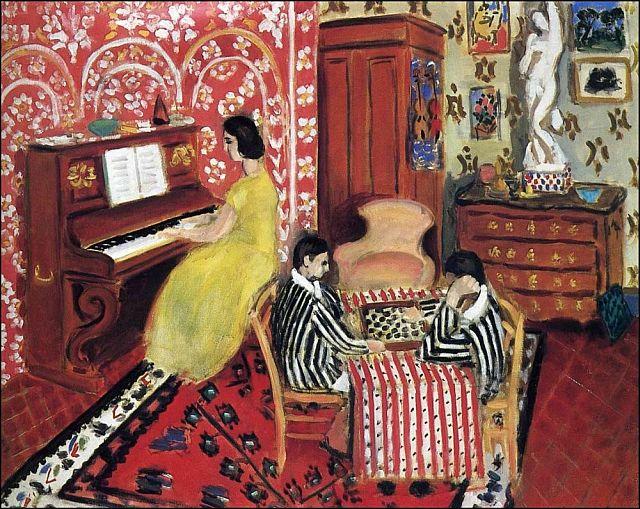 Pianiste et joueurs d'échecs 1924