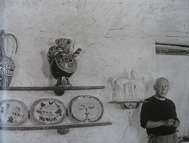 Picasso at his studio, Chateau Grimaldi, 1946 Michel Sima