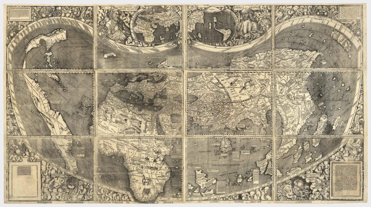 Waldseemuller world map 1507