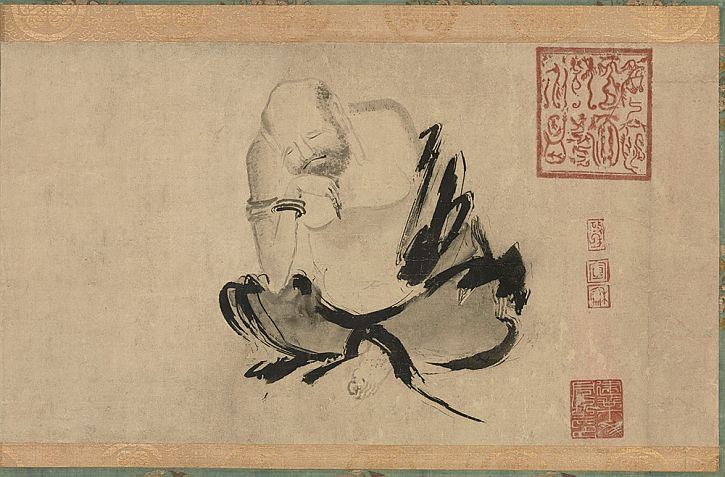 Attributed to Shi Ke, Two Chan Patriarchs Harmonising Their Minds, 13th century,