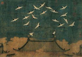 Auspicious Cranes-Detail