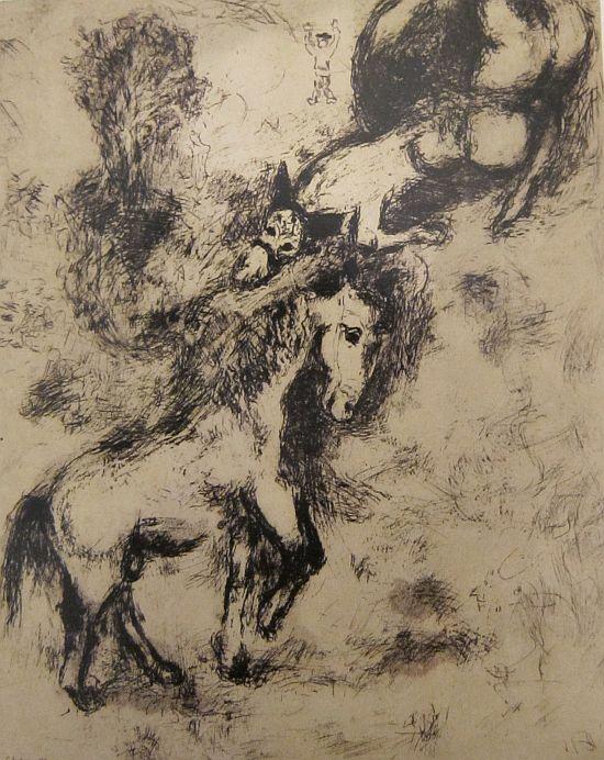 Chagall illustration Fables Jean de La Fontaine