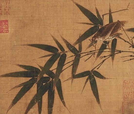 Bamboo Twig with Grasshopper, possibly Wu Bing, c1190-1250