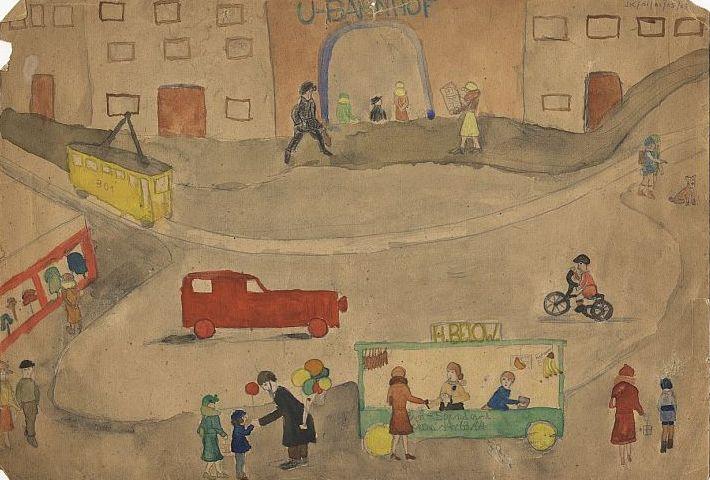Judith Kerr, Berlin street scene