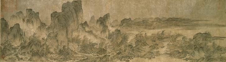 Landscape with Pavilions, Yan Wengui, 10th century