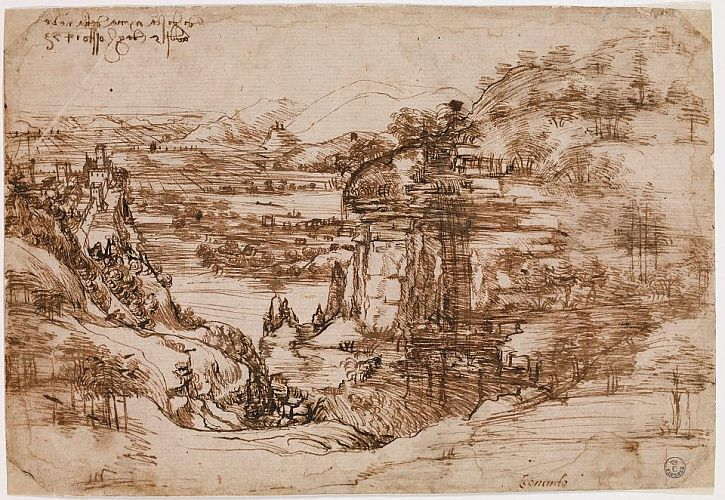 Leonardo da Vinci, Landscape,1473