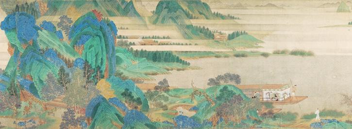 Qiu Ying, Saying Farewell at Xunyang, c1515-52, detail 1