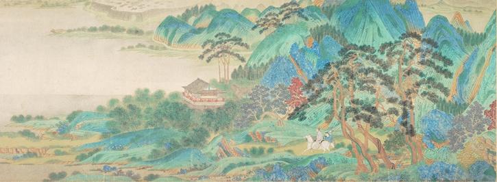 Qiu Ying, Saying Farewell at Xunyang, c1515-52, detail 2