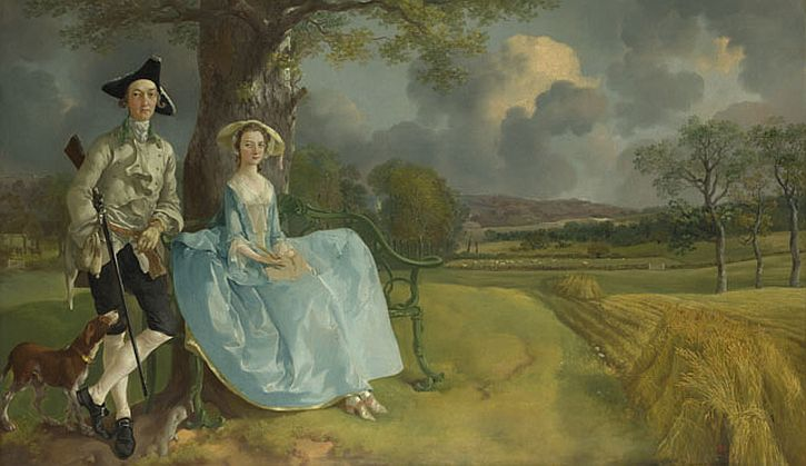 Thomas Gainsborough, Mr and Mrs Andrews, c1750