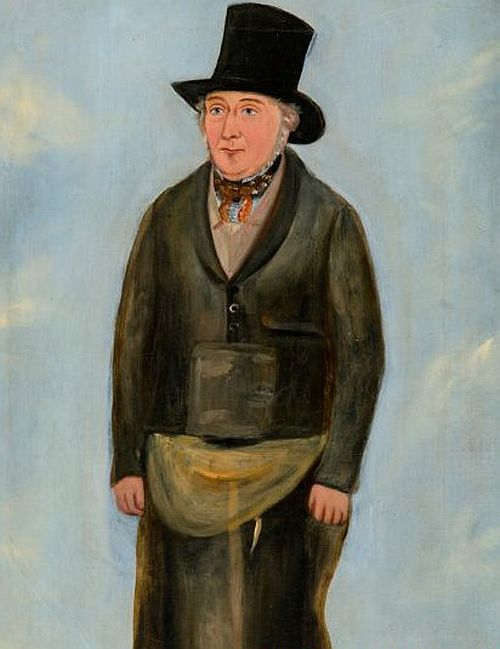 tinplate works at Treforest near Pontypridd. This portrait depicts its foreman, John Llewellyn