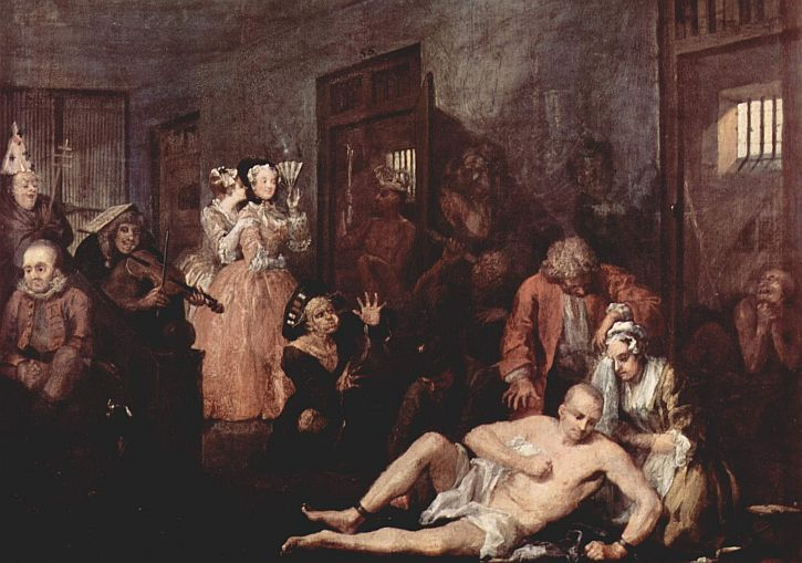 William Hogarth The Madhouse from A Rake's Progress