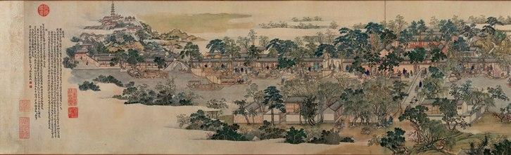 Xu Yang, Prosperous Suzhou, 1759, detail 1