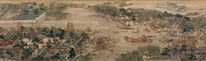 Xu Yang, Prosperous Suzhou, 1759, detail 2