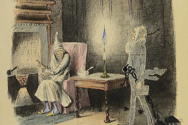 A Christmas Carol first edition illustration by John Leech