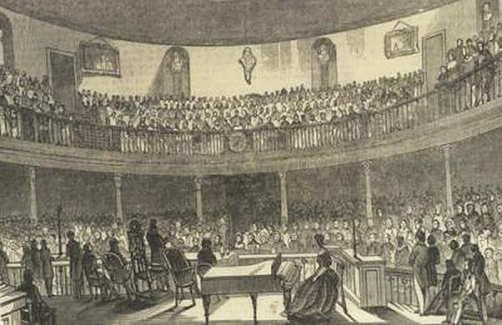 Artist impression of the Soiree  - 26th February 1844