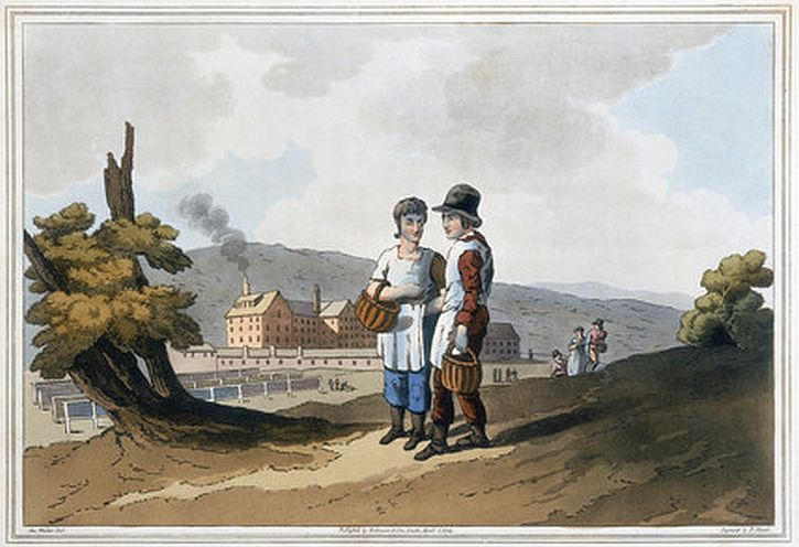 'Factory Children', 1814. Havell, Robert