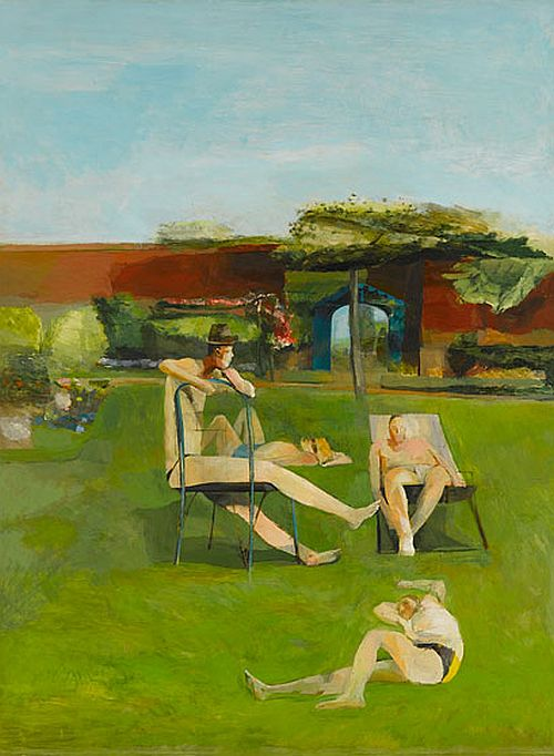 Four People Sunbathing, 1955, Michael Andrews