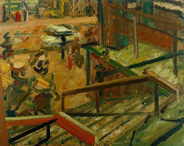 Frank Auerbach, Euston Steps, 1980-81