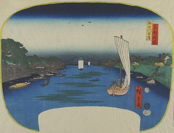 Hiroshige, The Banks of the Sumida River, 1857