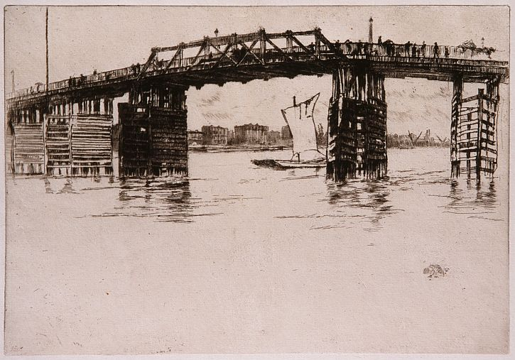 James McNeill Whistler, Old Battersea Bridge c. 1879