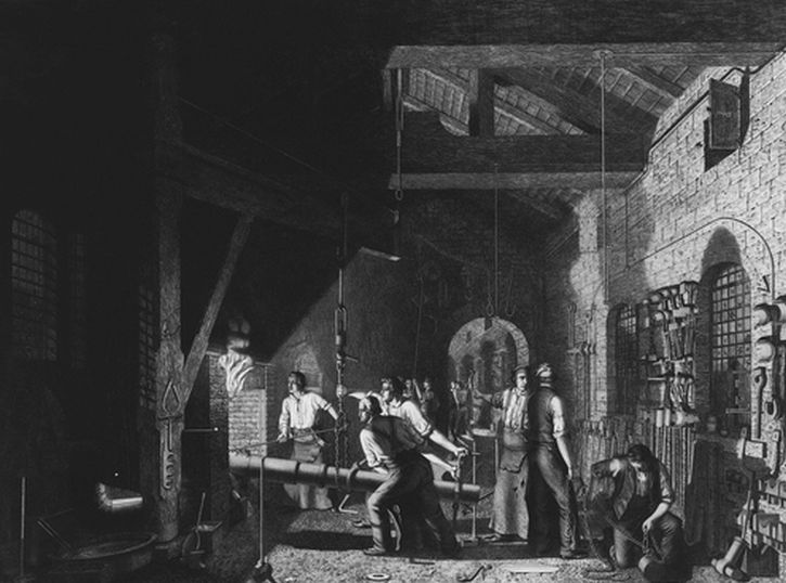 James Sharples, The Forge 1848