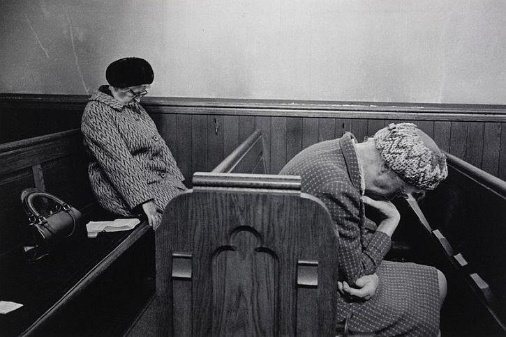 Mankinholes Methodist Chapel, Todmorden, 1975, by Martin Parr