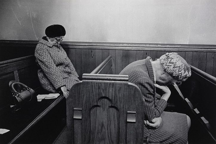 Mankinholes Methodist Chapel, Todmorden, 1975, by Martin Parr