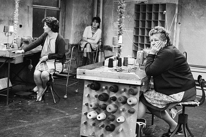 Martin Parr, Mythrolmroyd. Scarbottom. Redman's Factory. 1975