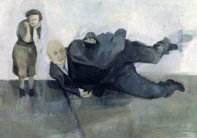 A Man who Suddenly Fell Over 1952 by Michael Andrews 1928-1995