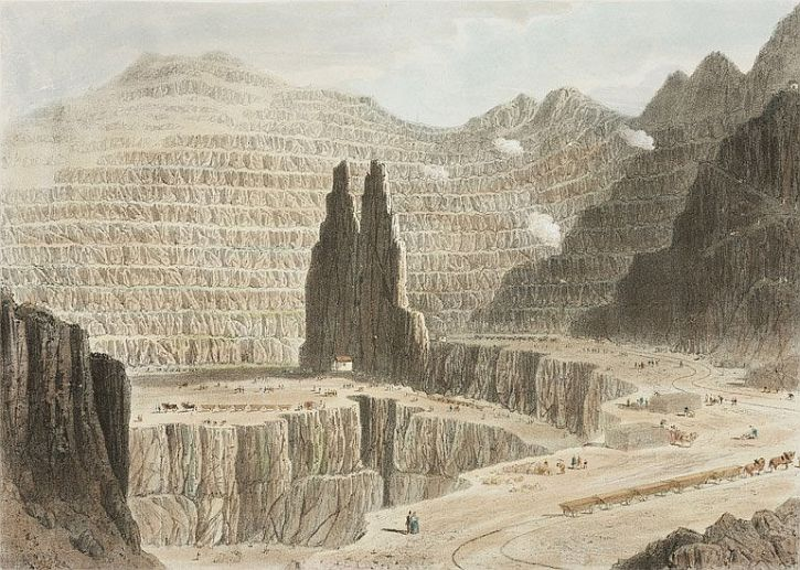 Newman & Co, Penrhyn Slate Quarries, near Bangor, Wales, 1842