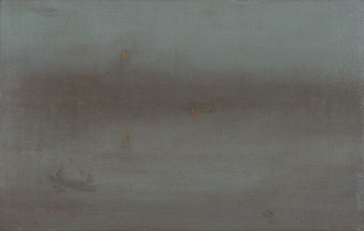 Nocturne Blue and Silver- Battersea Reach, 1870-75