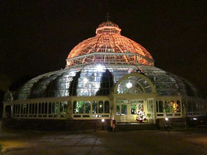 Sefton Park Palm House at Christmas