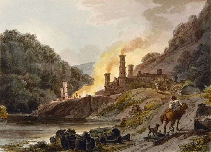 Philip James de Loutherbourg and William Pickett Iron Works, Colebrookdale, 1805