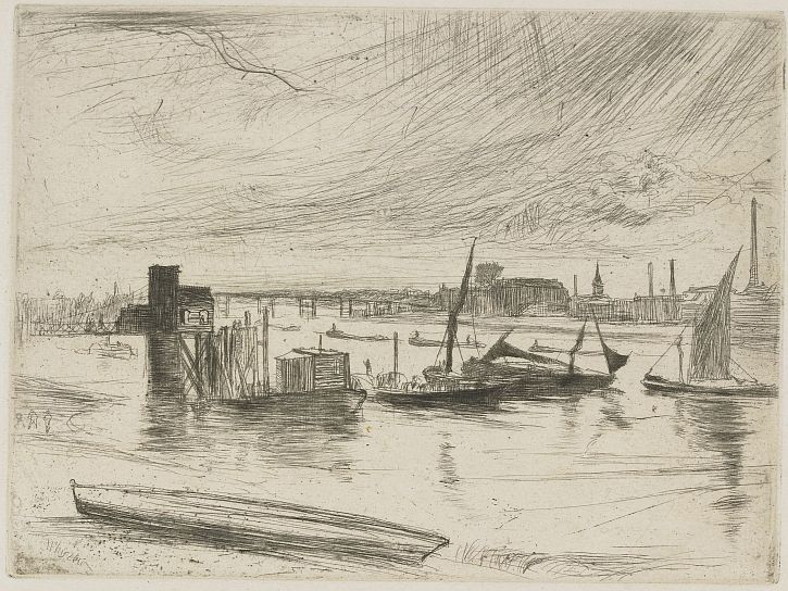 Whistler Battersea Dawn (Cadogan Pier) 1861