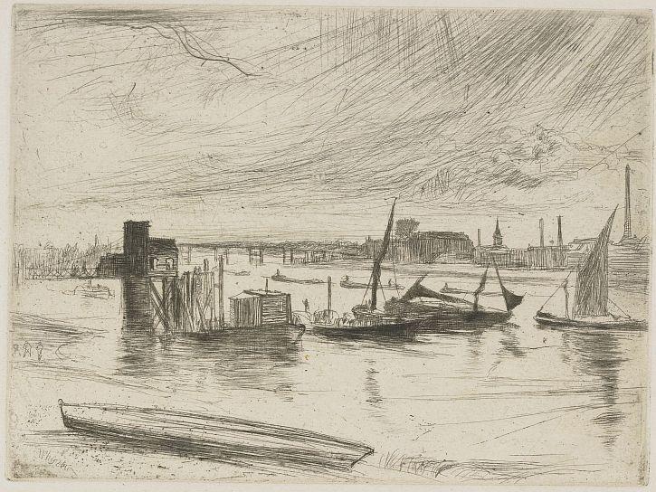 Whistler Battersea Dawn (Cadogan Pier) 1861