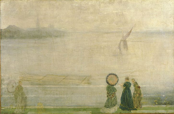 Whistler, Battersea Reach from Lindsey Houses, c.1864-1871