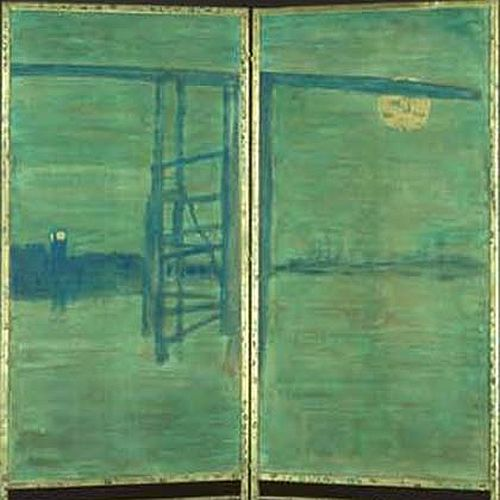 Whistler, Blue and Silver Screen with Old Battersea Bridge 1871-2