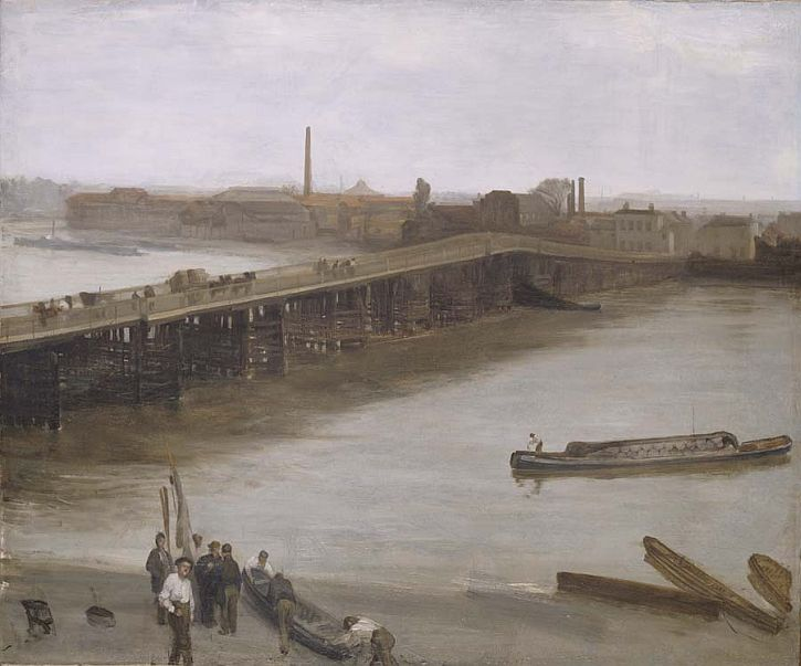 Whistler Brown and Silver Old Battersea Bridge
