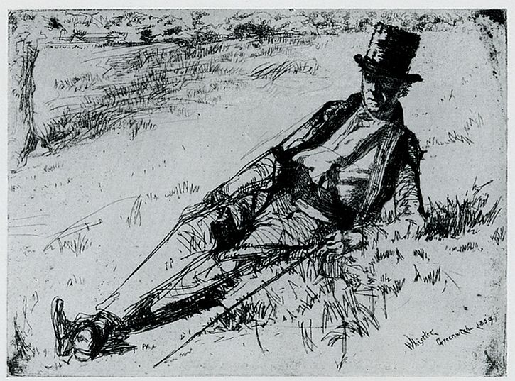 Whistler, Greenwich Pensioner, 1859